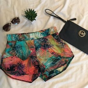 Pants - High Waist Tropical Shorts- Size Small